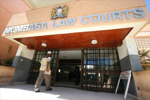 Mombasa Law Courts where court activities have been suspended following Covid-19 infections